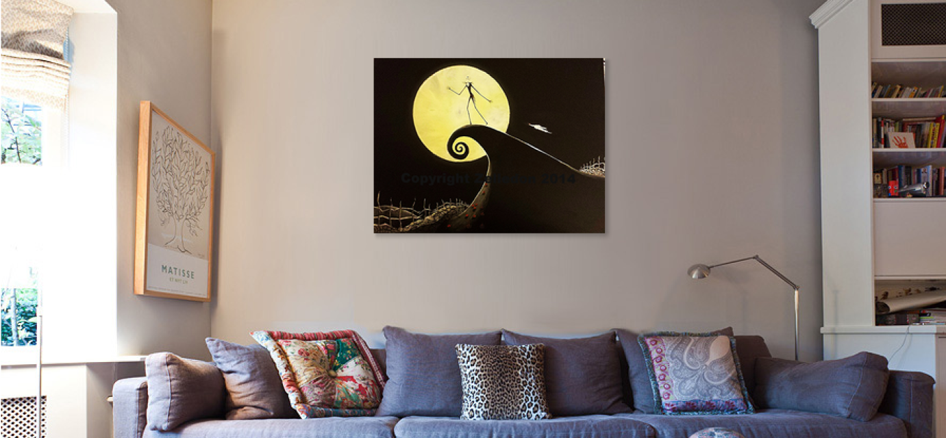 18x24 Jack Skellington Nightmare Before Christmas Acrylic Canvas ...